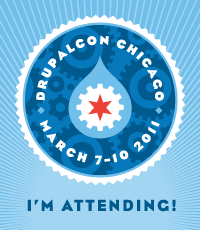 I'm attending DrupalCon Chicago, March 7-10, 2011